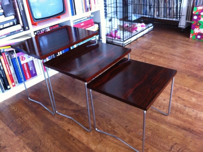 Jaren 60 nestje tafels/small tables 1960 SOLD