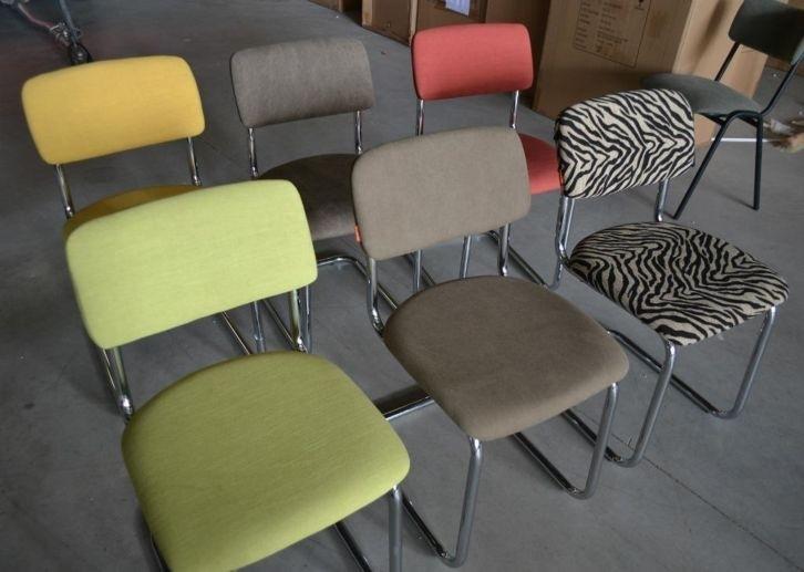 Gispen look-a-like  design chrome base chairs