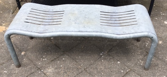 """Ruud Jan Kokke outdoor """"Moment"""" bench for Kembo"""