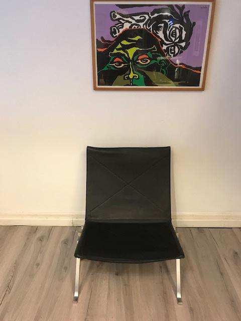 Originele vintage design PK22 Poul Kjaerholm lounge chairs Fritz Hansen