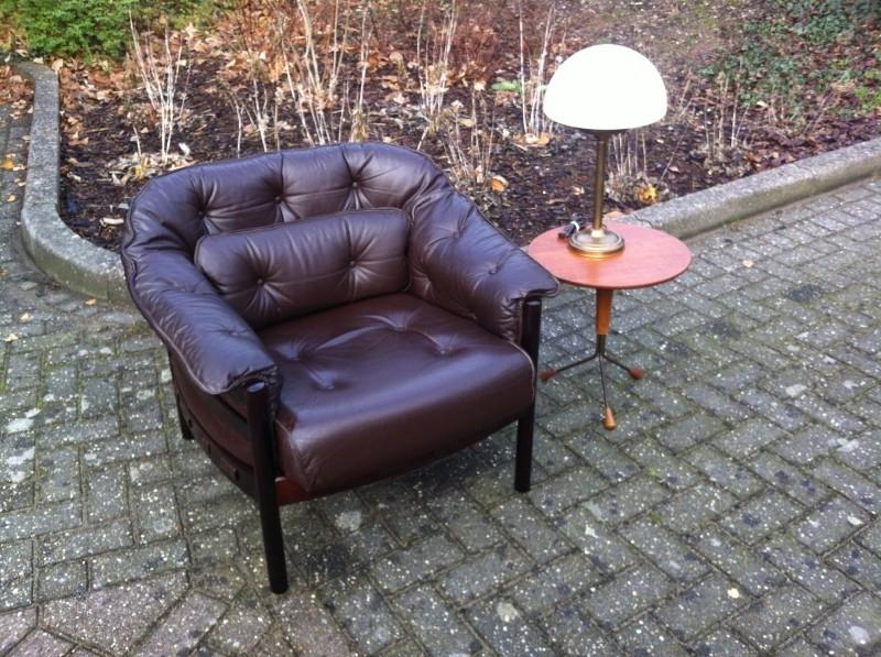 Vintage scandinavische Arne Norell fauteuil jaren 60