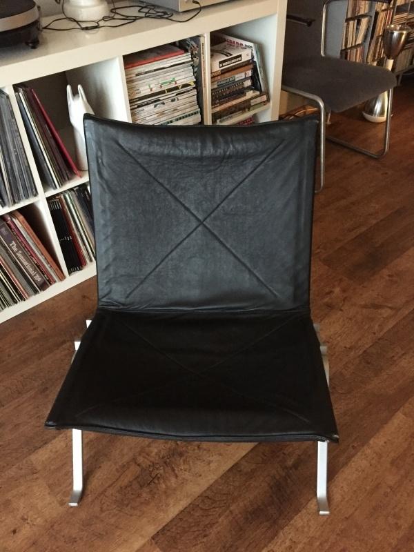 Retro vintage jaren 80 PK22 Poul Kjaerholm lounge chair