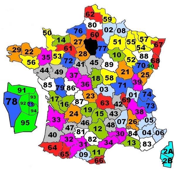 Overzicht Departementen In Frankrijk Op Nummer Eenhuisinhetbuitenland