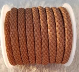 Gestikt Imitatie Leer Reptile Cognac Brown 6x4