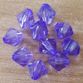 Bicone Facet - Crystal Paars