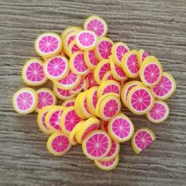 Schijfjes Fruit - Cake - Bloemetjes
