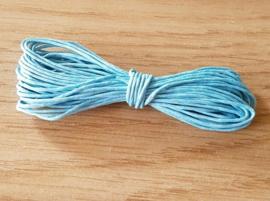 Waxkoord Turquoise 0,5 mm
