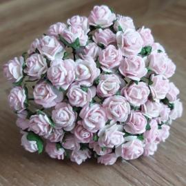 White - Soft Pink Edge