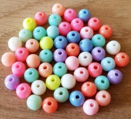 Pastel Bubblegum Mix - 6 mm Rond
