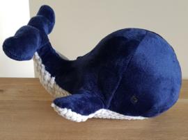 Pluche Walvis 20 cm - Navy Blauw