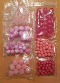Acryl Kralen Pakket - Roze