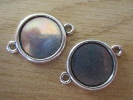 DQ Metaal Setting Antiek Zilver - 20 mm