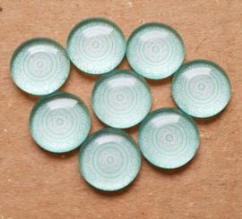 Mandala -Lucite Green Rond 12 mm