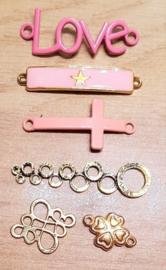 Tussenstukken Goud / Roze Pakket 005