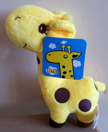Pluche Giraffe 18 cm - Geel