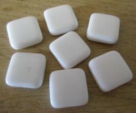 Witte Vierkante Kralen