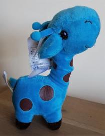 Pluche Giraffe 18 cm - Blauw