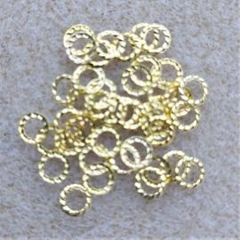 Gekarteld Ringetje - Goud