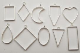 Set: 2 Bright Silver