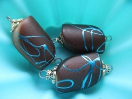 Bruine Kraal met Turquoise