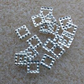Vierkantje - Zilver - klein