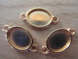 DQ Metaal Setting Ovaal Goud - 10 x 13 mm