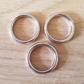 Gesloten Ring - 25 mm - Zilver