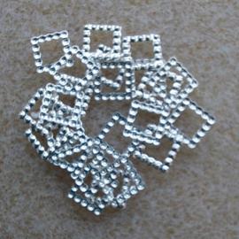 Vierkantje - Zilver - groot
