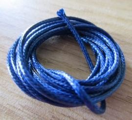 Waxkoord Donker Blauw - 1 mm