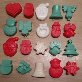 Wax Melts - Kerstsetje Rood Wit / Creme Groen (5-8)