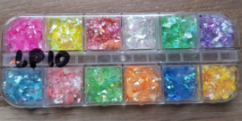 12-vaks Doosje Glitter Vlokken