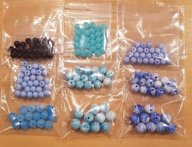 Acryl Kralen Pakket - Blauw