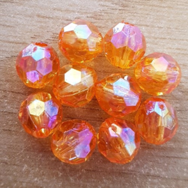 Facet Oranje - 8 x 8 mm
