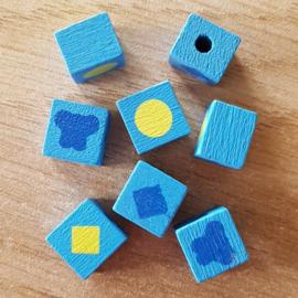 Vierkantjes Blauw
