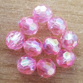 Facet Roze - 8 x 8 mm