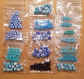 Acryl & Glas Kralen Pakket - Blauw