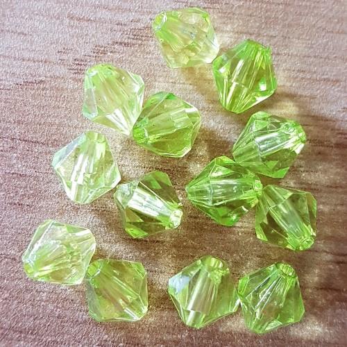 Bicone Facet - Crystal Groen