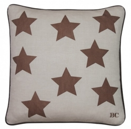 Bastion Collection - Cushion 50x50 Nat/Copper Stars