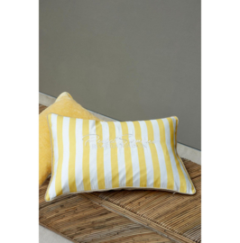 Riviera Maison - Pefect Summer Stripe Pillow Cover yellow/flax 65x45