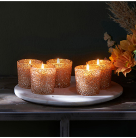 Riviera Maison - Gold Dust Sprinkle Scented Candle Rustic Mood 5 pcs