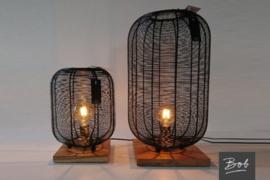 Tafellamp houten voet L