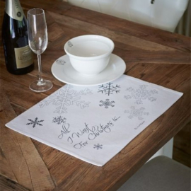 Riviera Maison - All I want for... placemat white