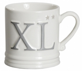 Bastion Collection - Mug Large White XL in Grey w.Titan star