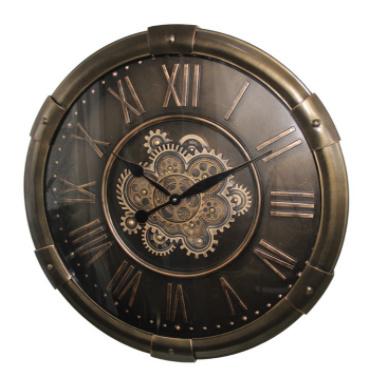 Gear Clock Buoy Dark Brown