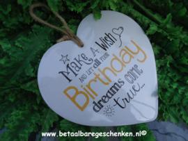 """Stenen hart """"Birthday"""""""