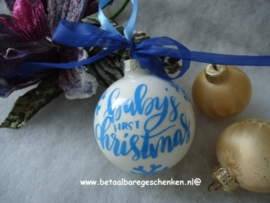 Originele kerstbal babyblauw