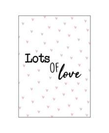 """Wenskaart """"Lot of Love"""""""