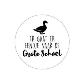 """Sticker """"Er gaat er eendje...grote school"""""""