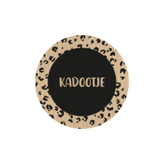 "Sticker kraft/zwart ""Kadootje"""