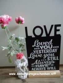 "Tekstbord ""Loved"""